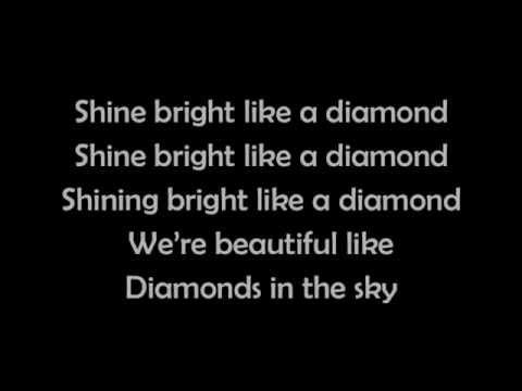 Rihanna - Diamonds (lyrics)