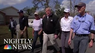 President Donald Trump Visits Florida Towns Destroyed By Hurricane Michael | NBC Nightly News