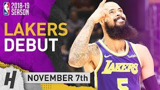 Tyson Chandler Official Lakers Debut Highlights vs Timberwolves 2018.11.07 - 2 Pts, 8 Reb