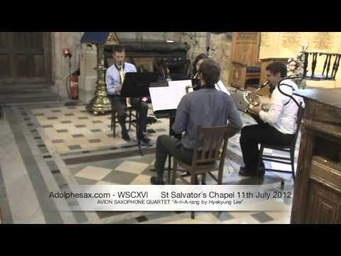 WSCXVI AVION SAXOPHONE QUARTET   A ri A rang by Hyekyung Lee