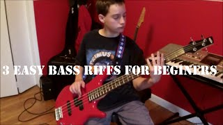 3 Easy Bass Riffs For beginers