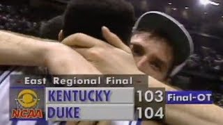 Christian Laettner's shot sinks Kentucky in 1992 Elite Eight