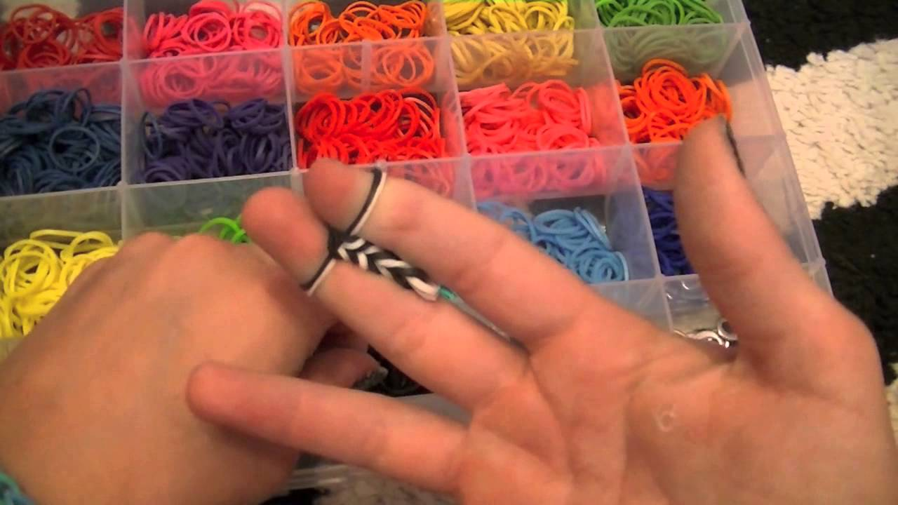 How To Make A Rainbow Loom Fishtail Without The Loom Youtube