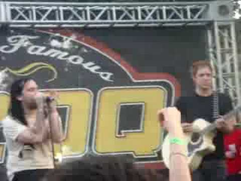 The Used play Hard To Say live acoustic