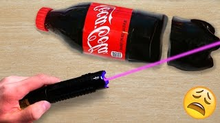 EXPERIMENT MOST POWERFUL LASER VS GUMMY COCA COLA