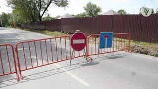 В районе 8 км провалился участок автодороги