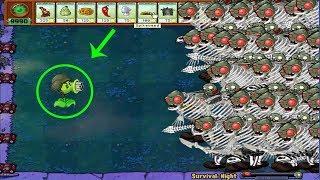 9999 Giga-Gargantuar Zombie vs Lawn Mower in Plants vs Zombies