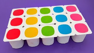 surprise Toys Kinetic sand Yoghurt Cups fun  for kids cartoon