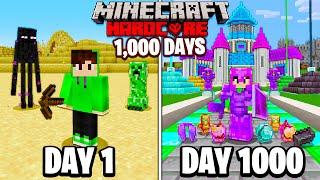 I Survived 1000 Days in HARDCORE Minecraft...
