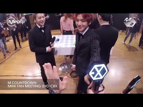 엑소-CBX(첸백시) 미니팬미팅 EXO-CBX MINI FAN MEETING Mnet MCOUNTDOWN 161103