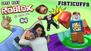 Let's Play ROBLOX #4: FISTICUFFS!!  Momma Will Knock You Out! (FGTEEV Xbox One Gameplay)