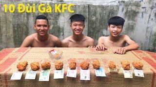 Hữu Bộ | Thử Thách Ăn Hết 10 Chiếc Đùi Gà Rán KFC Nhận Tiền Thưởng