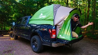 EXTREME Truck Camping | SURVIVING in the Woods! (Best Tent Ever)