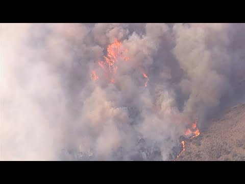50-acre brush fire in Santiago Canyon area near Irvine prompts mandatory evacuations | ABC7
