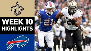 Saints vs. Bills | NFL Week 10 Game Highlights