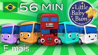 Dez Pequenos Ônibus | E muitas mais Canções de Ninar | LittleBabyBum!