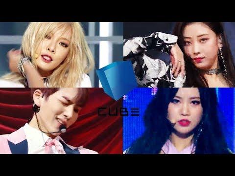무대 찢어버리는 큐브 메인댄서들 (현아, 장승연, 키노, 수진)