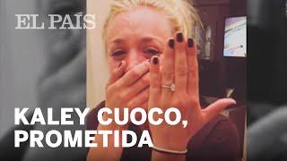 La actriz Kaley Cuoco comparte en redes sociales su pedida de mano | Gente