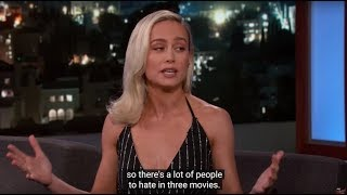 Brie Larson dumps on peers: 'There's a lot of people to hate in three movies'