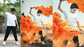 photo editing in photoshop | smoke bomb