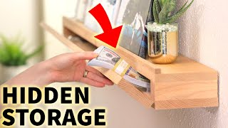 Hidden in plain sight: DIY Secret Storage (disguised as an Art Ledge)