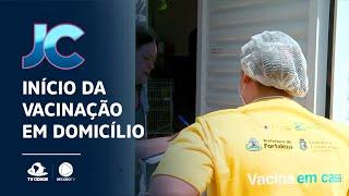Início de vacinação em domicílio na Capital
