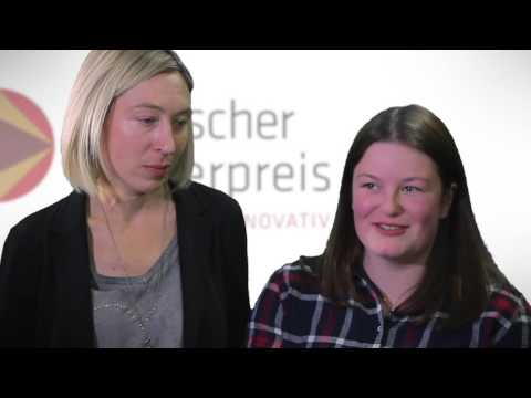 Lehrerpreis 2015: Preisträgerin Dr. Katrin Eberle mit Katharina Fuchslocher