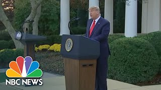 Trump Addresses Americans For First Time Since Election Defeat | NBC Nightly News