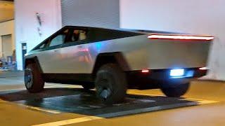 First Test Ride in Tesla's Pickup Truck | CYBRTRK