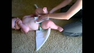 How To Fold Flat Cloth Diapers - Origami Fold