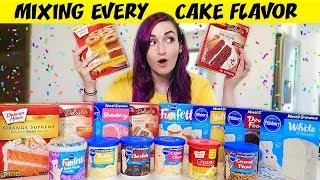 I Mixed EVERY Cake Flavor Together for MY BIRTHDAY