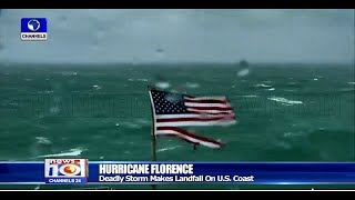 Deadly Hurricane Florence Makes Landfall On U.S. Coast Pt.4 14/09/18 |News@10|