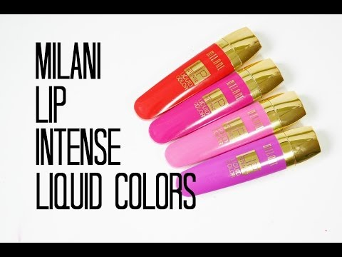 Review and Swatches: Milani Lip Intense Liquid Colors