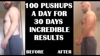 100 Pushups A Day For 30 Days CHALLENGE - Results