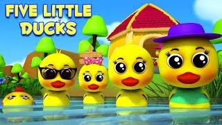 เป็ดน้อยห้าตัว | บ๊องสำหรับเด็ก | Five Little Ducks | Nursery Rhymes  | Kids Tv Thailand
