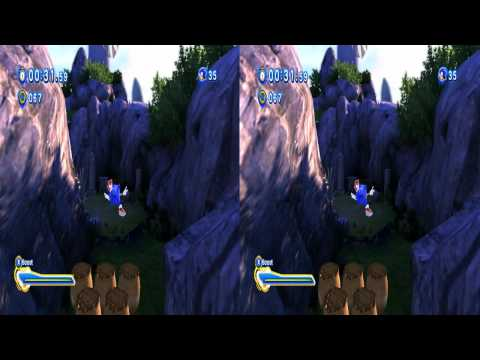 Sonic Generations in 3D - Unleashed porting project - hardware test