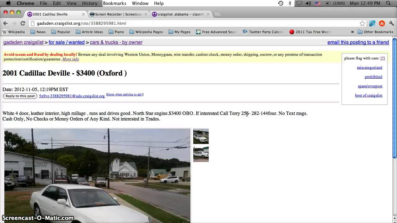 Craigslist Anniston Alabama Used Cars For Sale By Owner