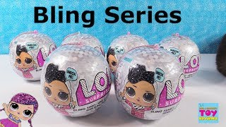 LOL Surprise Bling Holiday Ornament Series Doll Toy Unboxing Review | PSToyReviews
