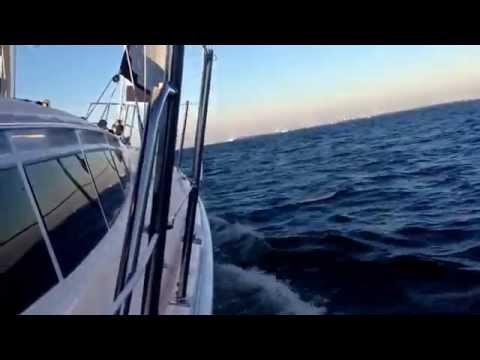 Sunset Sail on Pitch N Roll III on Feb 13, 2015