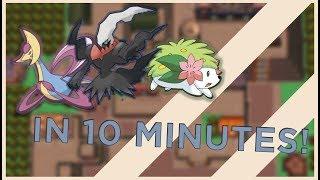 Catch shaymin, darkrai, cresselia in 10 minutes each! (pokemon D/P)
