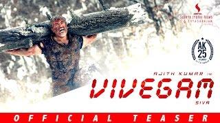 Vivegam - Official Teaser   Ajith Kumar, Vivek Oberoi, Kajal, Akshara   Vetri   Anirudh   Siva
