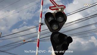 RAILROAD CROSSING   ĐOÀN TÀU SE1O SAIGON - HANOI QUA CHẮN TỰ ĐỘNG PHÚ SƠN ĐỒNG NAI (18/08/2019)