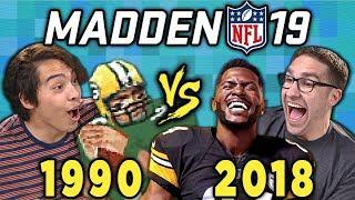 MADDEN NFL - Old VS. New (Madden '19 vs Madden 1990) (React)