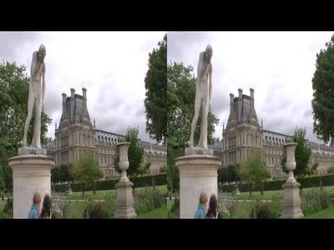 Paris Jardin Des Tuileries, Louvre 2013 3D