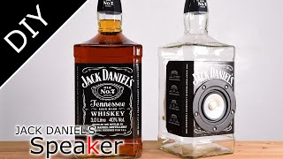 DIY:Glass Bottle Speaker - Jack Daniel's  whisky bottle