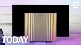 Bang and Olufsen's gorgeous OLED TV has folding speaker 'wings' | Engadget Today