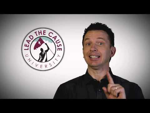 Greg Stier Is Teaching At Lead THE Cause University! - YouTube