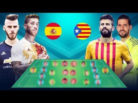 هذه تشكيلة منتخب كطالونيا في حال الانفصال عن إسبانيا