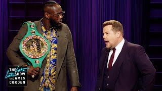 Deontay Wilder Crashes James Corden's Monologue