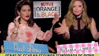 EM HD - Yael Stone e Natasha Lyonne sobre a Competição de Sexo na Segunda Temporada de OITNB.